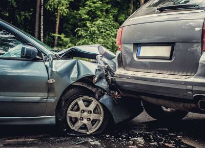 Two cars crashed in accident, New York car insurance